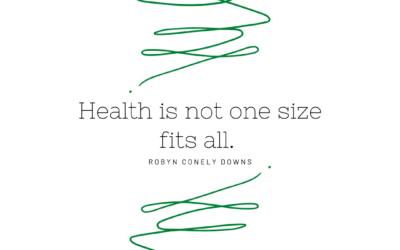 Health is not one size fits all